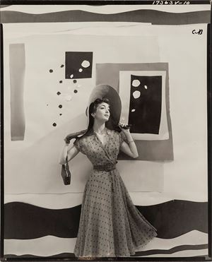 Carmen Dell'Orefice With Cutout Backdrop, For 'Vogue' by Cecil Beaton contemporary artwork