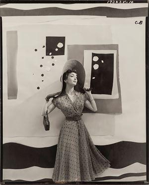 Carmen Dell'Orefice With Cutout Backdrop, For 'Vogue' by Cecil Beaton contemporary artwork