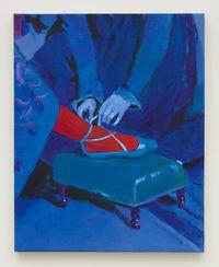 Blue Tie by Joshua Petker contemporary artwork painting
