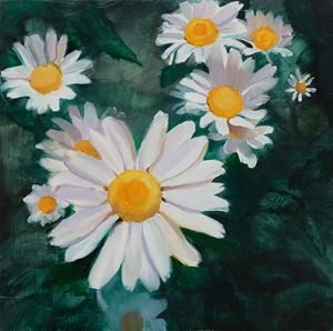 Little Daisy by Yuan Yuan contemporary artwork painting