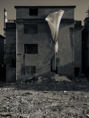 The dust now inhaled was once a house No.10 by Hu Weiyi contemporary artwork