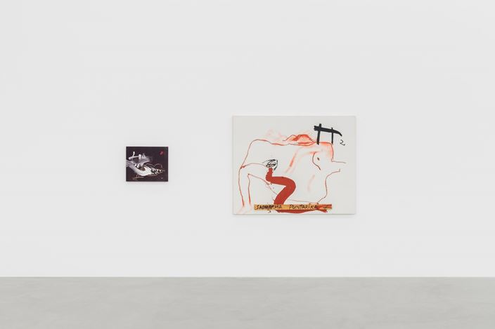 Exhibition view: Antoni Tàpies, Almine Rech, Brussels (8 February–28 March 2020). Courtesy the Estate of the Artist and Almine Rech. © SABAM Belgium 2020. Photo: Hugard & Vanoverschelde photography.