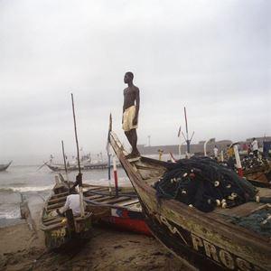 Garçon à la plage à James Town, Ghana by Denis Dailleux contemporary artwork photography