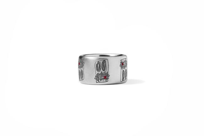 Titanium Ring Band from 'Anxious Men' by Rashid Johnson contemporary artwork