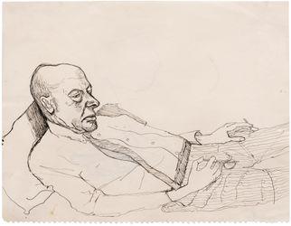 Alice Neel, John (1962). Ink on paper. 27.3 x 35.2 cm. Courtesy the artist and Xavier Hufkens, Brussels.