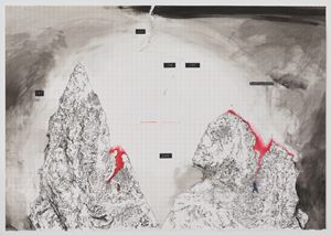 Landscape Behind Walls No.5 by Zhu Rixin contemporary artwork