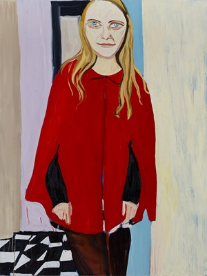 Red Cape by Chantal Joffe contemporary artwork