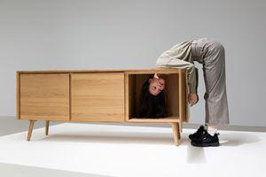 Head TV 電視頭 by Erwin Wurm contemporary artwork sculpture, performance