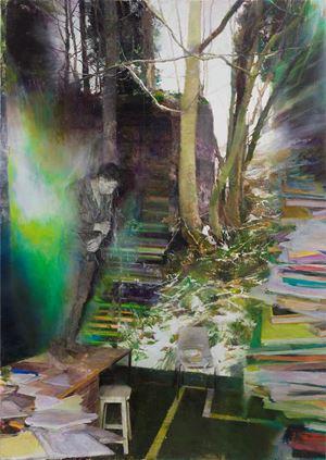 Fugue by Justin Mortimer contemporary artwork