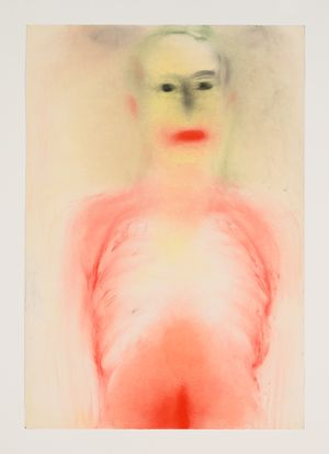 unklar by Miriam Cahn contemporary artwork painting, works on paper