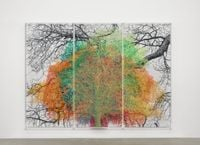Numbers and Trees: London Series 1, Tree #9, Idol Lane by Charles Gaines contemporary artwork painting