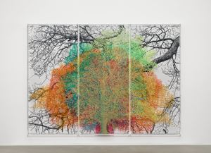 Numbers and Trees: London Series 1, Tree #9, Idol Lane by Charles Gaines contemporary artwork