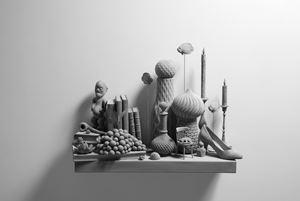 'Still Life (wall piece) (10)' by Hans Op de Beeck contemporary artwork