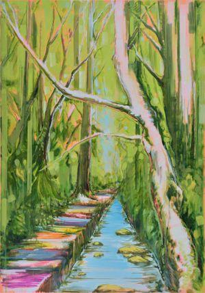 Memory Lane by Masakatsu Kondo contemporary artwork painting, works on paper