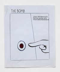 No Title (The bomb only...) by Raymond Pettibon contemporary artwork painting, works on paper, drawing