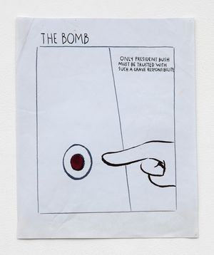 No Title (The bomb only...) by Raymond Pettibon contemporary artwork