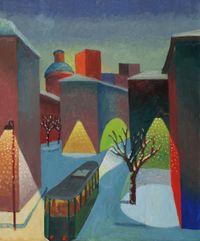 Snowfall by Salvo contemporary artwork painting