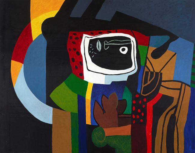 Face of a Stranger by Dia Al-Azzawi contemporary artwork