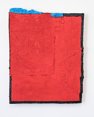 Untitled (red with blue) by Louise Gresswell contemporary artwork