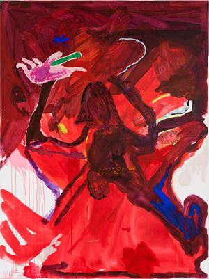 fear of intimacy (hibiscus hand) by Tom Polo contemporary artwork