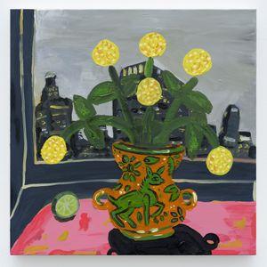 5am view of DTLA by Marcel Alcalá contemporary artwork