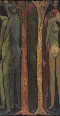 Tree of Life by Vishwanath Nageshkar contemporary artwork painting