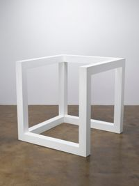 Incomplete Open Cube 10/4 by Sol LeWitt contemporary artwork sculpture