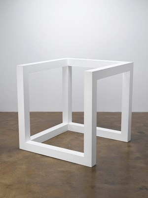 Incomplete Open Cube 10/4 by Sol LeWitt contemporary artwork