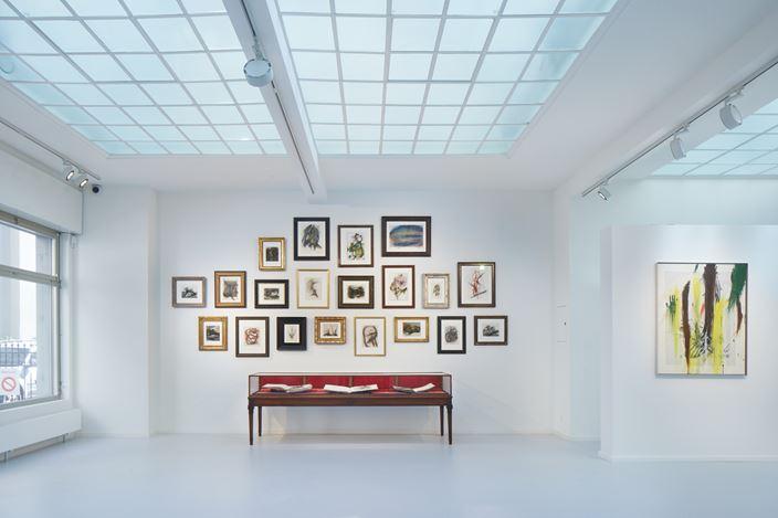 Exhibition view: Arnulf Rainer,Paintings, Drawings and Books, Galerie Gmurzynska, Talstrasse 37, Zürich (11 September–30 November 2020). Courtesy Galerie Gmurzynska.