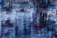 Blau (Früher War Hier Land) by Charlotte Acklin contemporary artwork painting