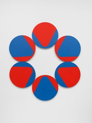 Constellation Six Circles by Leon Polk Smith contemporary artwork