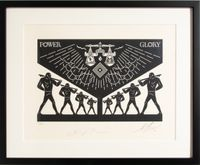 Scales Of Injustice by Cleon Peterson And Shepard Fairey contemporary artwork sculpture