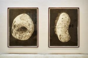 Untitled (Pebble from Prospect Cottage); Untitled (Pebble from Tapgol Park) by Kang Seung Lee contemporary artwork