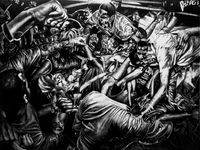 Smells like Fugazi by Victor Balanon contemporary artwork painting, works on paper, drawing, mixed media
