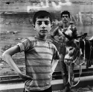 Khalid and his Donkey in Old Aleppo, May 2017 by Katharine Cooper contemporary artwork