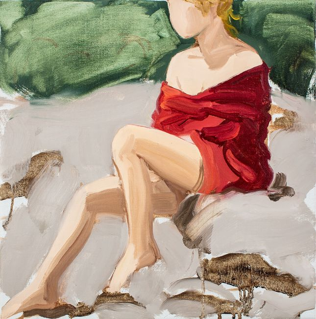 Red by Gideon Rubin contemporary artwork