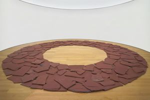 Red Slate Circle by Richard Long contemporary artwork