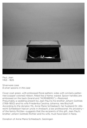 Apokryphen (Jean Paul, Besteckschatulle) by Ricarda Roggan contemporary artwork