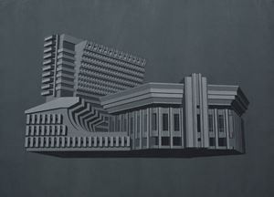 Modernist Facades for New Nations (Propositions 6) by Sahil Naik contemporary artwork