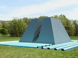 Dennis Oppenheim and Josephine Halvorson shift our perspective with oversize sculptures