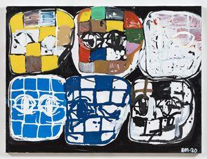 BH Grid No. 1 by Eddie Martinez contemporary artwork