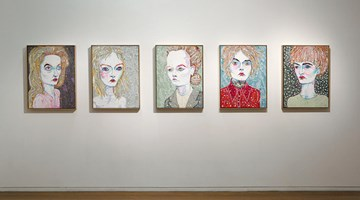 Contemporary art exhibition, Del Kathryn Barton, Pressure to the need at Roslyn Oxley9 Gallery, Sydney