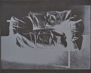 Easy Chair #1 by David Diao contemporary artwork
