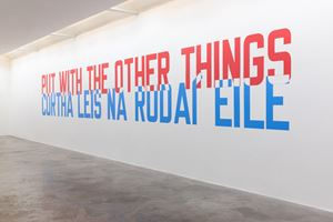 PUT WITH THE OTHER THINGS by Lawrence Weiner contemporary artwork
