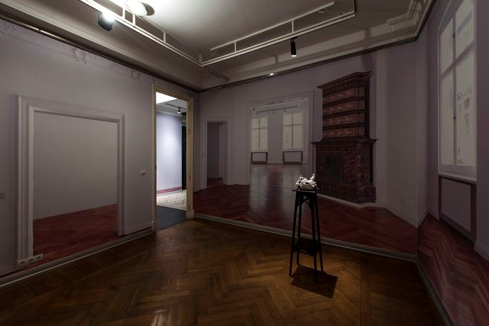 Exhibition view:Burçak Bingöl, Living Inside a Tale And There Only, Zilberman Gallery, Project Space, Istanbul (14 May–17 August 2019). Courtesy Zilberman Gallery.