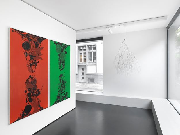 Exhibition view: Group Exhibition,Back to the Roots: Campbell, Gjerdevik, Grabner, Anne Mosseri-Marlio Gallery, Basel (4 September–16 October 2020). Courtesy Anne Mosseri-Marlio Gallery.