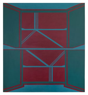 Palace Red by Tess Jaray contemporary artwork