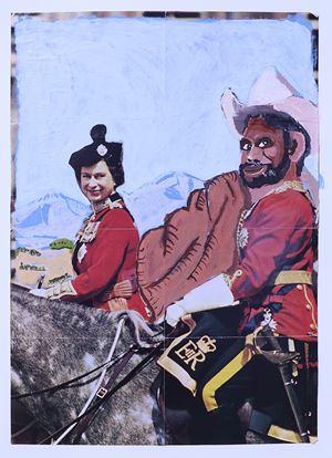 The Royal Tour by Vincent Namatjira contemporary artwork