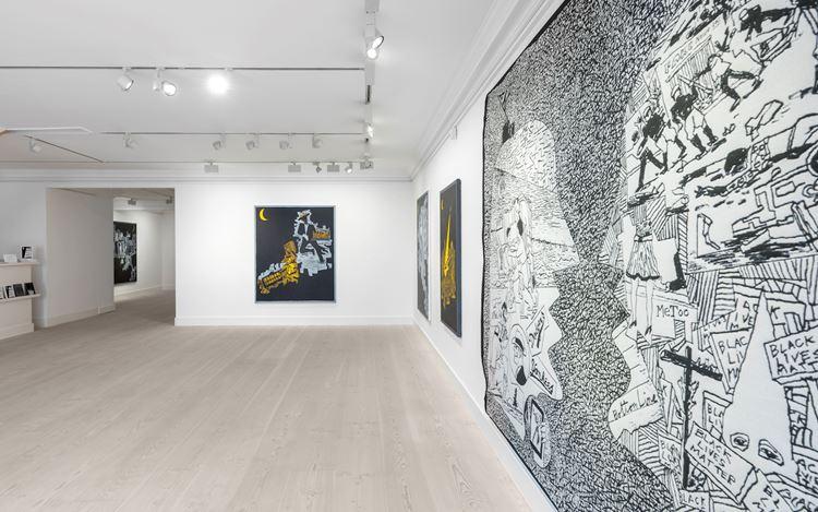 Exhibition view: Derek Boshier, Night and Snow / Fragments: Contemporary Still Life,Gazelli Art House, London (4 October–10 November 2019). Courtesy Gazelli Art House.