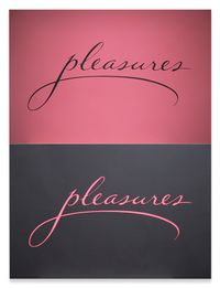 Pleasures On Canvases by Sylvie Fleury contemporary artwork painting